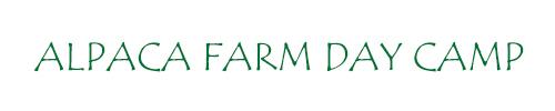 Alpaca Farm Day Camp Banner